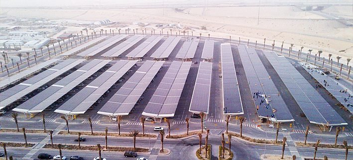 Saudi Arabia Largest PV Module-Covered Parking Lot in the World