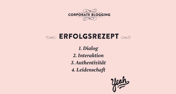 Erfolgsrezept für Corporate Blogs
