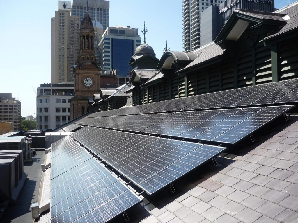 Sydney Town Hall 48kWp solar pv system