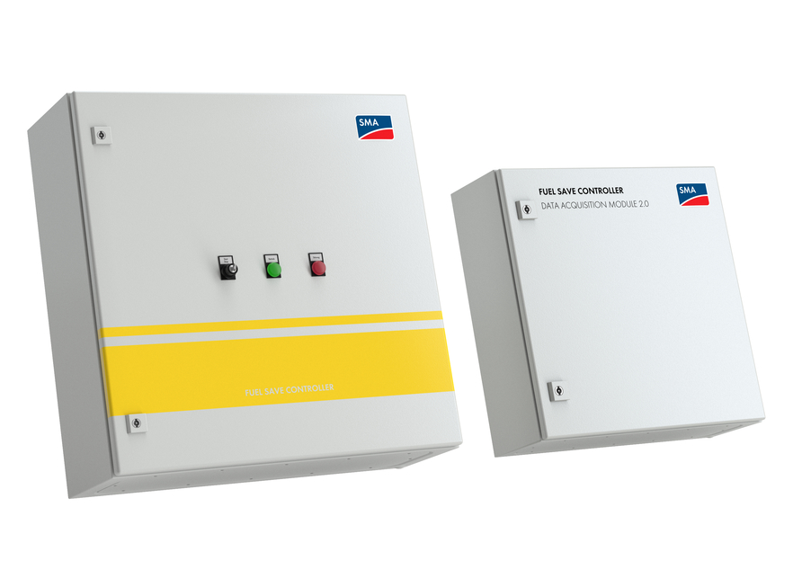 Fuel Save Controller (left) and Data Acquisition Module (right)