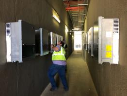 Auch 43 Solar-Wechselrichter von SMA sind in der Anlage verbaut.