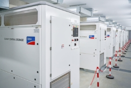 Sunny Central Storage battery inverters in Bordesholm.