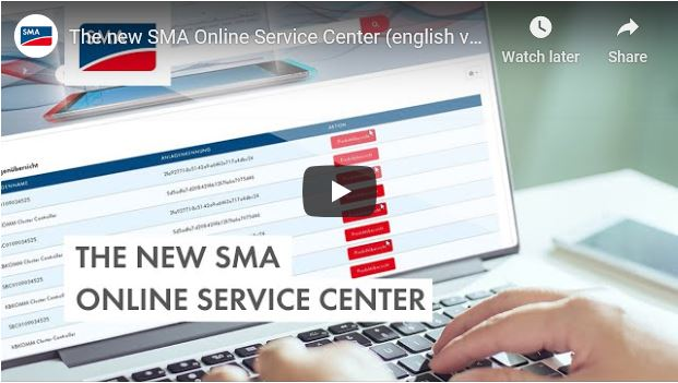 SMA Online Service Cemter Video