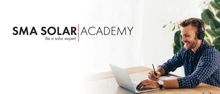 SMa Solar Academy logo and US Map/Flag