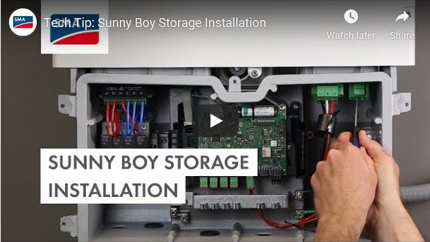Sunny Boy Storage Tech Tip - Intallation