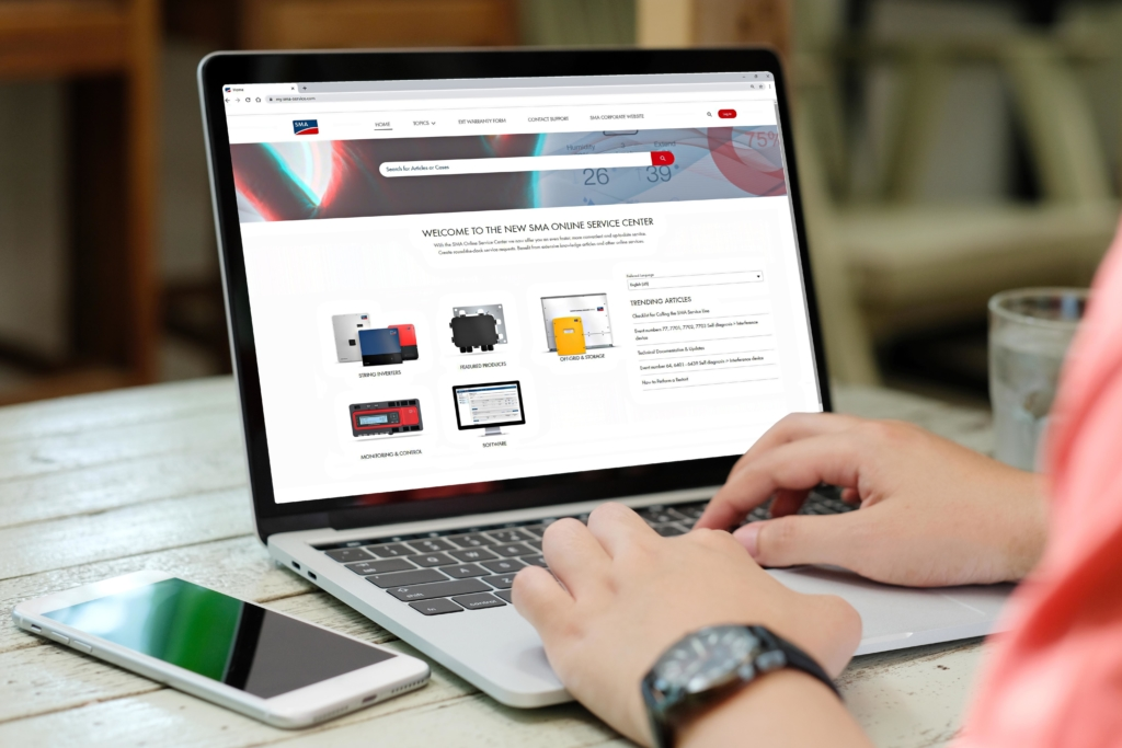 SMA Online Service Center portal