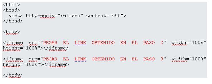 prepara un archivo HTML
