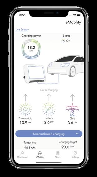 proceso de carga del coche con la aplicación SMA Energy
